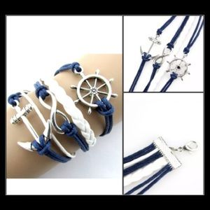 Jewelry - Anchor & infinity friendship bracelet
